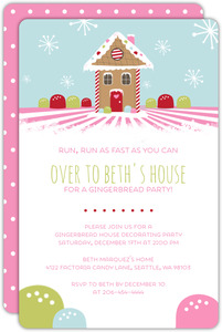 Gingerbread House  Holiday Party Invite