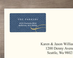 Navy And Gold Elegant Bethlehem Address Label