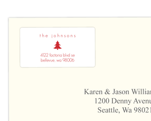 Kraft Paper And Car With Tree Address Label