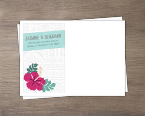 Hawaiian Floral Pattern Custom Envelope