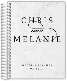 Elegant Marble Gray Wedding Planner