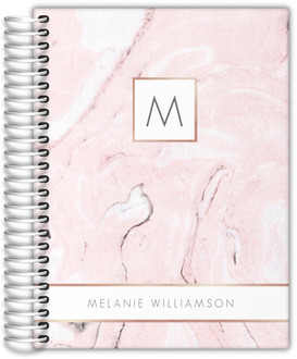 Blush Marble and Faux Rose Gold Daily Planner