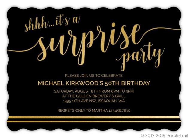 its a surprise birthday invitation 50th birthday invitations