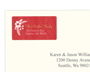 Green And Red Rustic Address Label