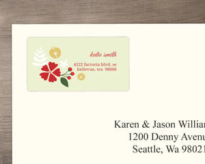 Fancy Bells On Floral Address Label