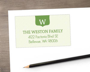 Green Ribbons And Reindeer Address Label