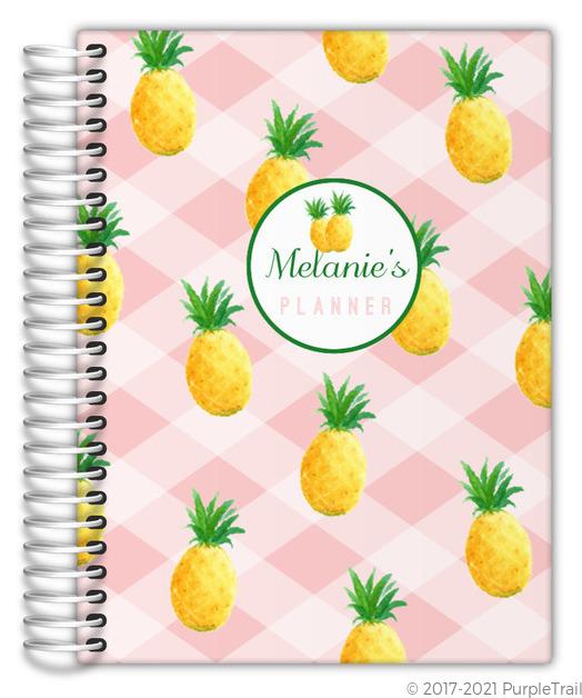 Pink Pineapple Pattern Mom Planner