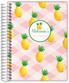 Pink Pineapple Pattern Mom Planner