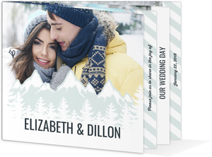 Whimsical Winter Mountains Booklet Wedding Invitation