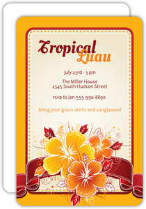 Tropical Luau Invitation