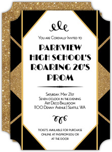 Geometric Roaring Twenties Prom Invitation