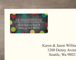 Merry Bright Dots Address Label