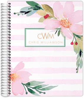 Floral Watercolor Custom Daily Planner