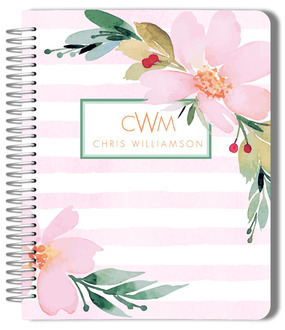 Floral Watercolor Custom Monthly Planner