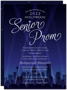 Hollywood City Night Prom Invitation
