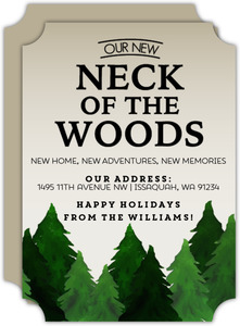 Rustic Neck Of The Woods Holiday Moving Announcement