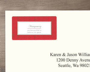 Red Monogram Stamp Address Label