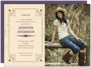Western Photo Graduation Invitation