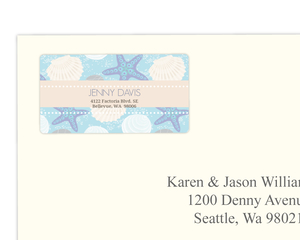 Beach Shell Bridal Shower Address Label