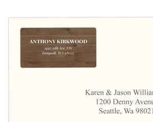 Simple Wood Address Label