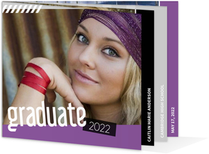 Purple Scrapbook Memories Graduation Invitation