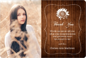 Brown Country Chic Graduation Thank You Magnet