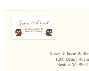 Whimsical Owls Address Label