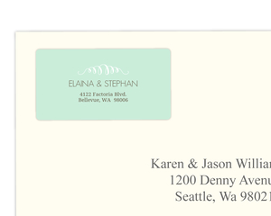 Mint And Brown Soft Stripes Address Labels