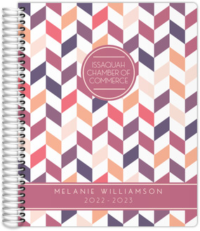 Shades of Pink Chevron Daily Planner