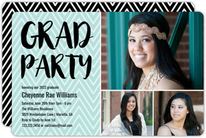 Chevron Pattern Graduation Invitation