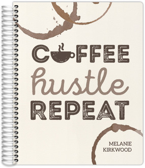 Coffee Hustle Repeat Monthly Planner