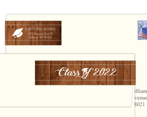 Rustic Wood Address Label