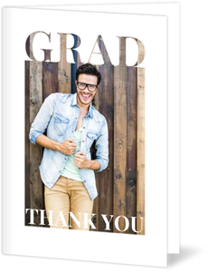 Grad Cutout Frame Graduation Thank You