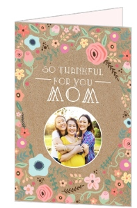 Kraft Floral Photo Mothers Day Card