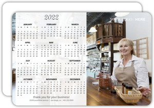 White Transparent Banner Business Calendar Card