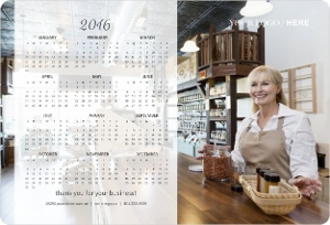 White Transparent Banner Magnet Business Calendar