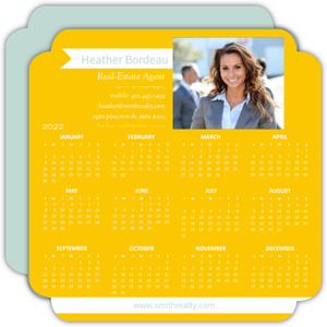 Modern Yellow Business Calendar Card