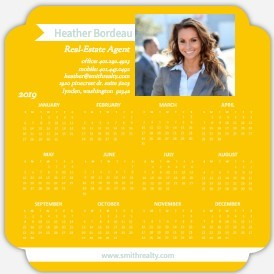 Modern Yellow Magnet Business Calendar