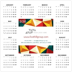 Bold Geometric Real Estate Business Magnet Calendar