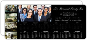 Classic Black Real Estate Business Calendar Card