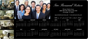 Classic Black Real Estate Business Magnet Calendar