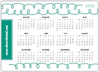 Whimsical Floss Health Service Business Magnet Calendar