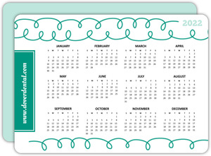 Whimsical Floss Health Service Business Calendar Card