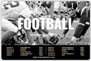 Classic School Colors Magnet Sports Schedule