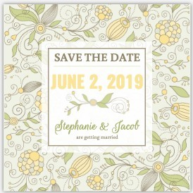 Beautiful Floral Wedding Save The Date Magnet