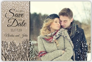 Kraft Winter Snow Save The Date Magnet