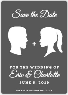 Classy Silhouette Save The Date Magnet