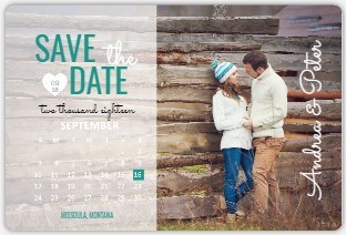 Charming Typography Save The Date Magnet Calendar