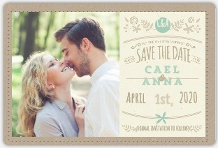 Mint Kraft Save The Date Magnet