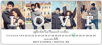 Multi Photo Love Save The Date Magnet